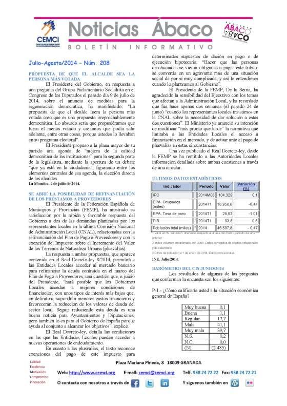 NOTICIAS ABACO Julio Agosto 2014. Nº 208_Página_1