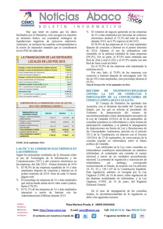 NOTICIAS ABACO Septiembre 2014. Nº 209_Página_2
