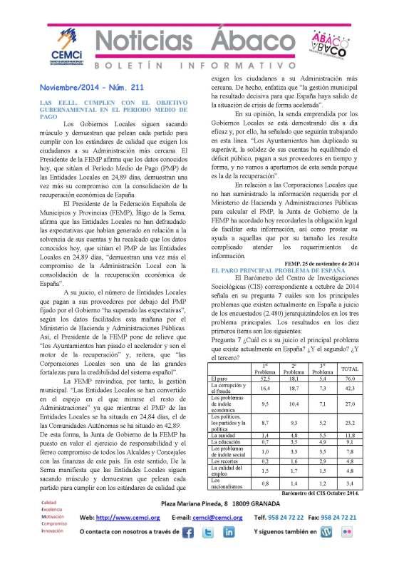 NOTICIAS ABACO Noviembre 2014. Nº 211_Página_1