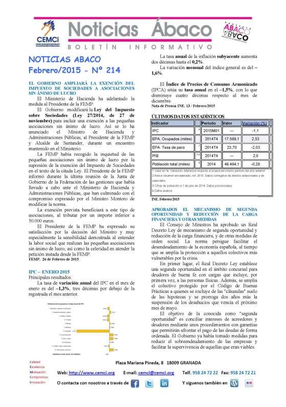 NOTICIAS ABACO Febrero 2015 núm. 214_Página_1